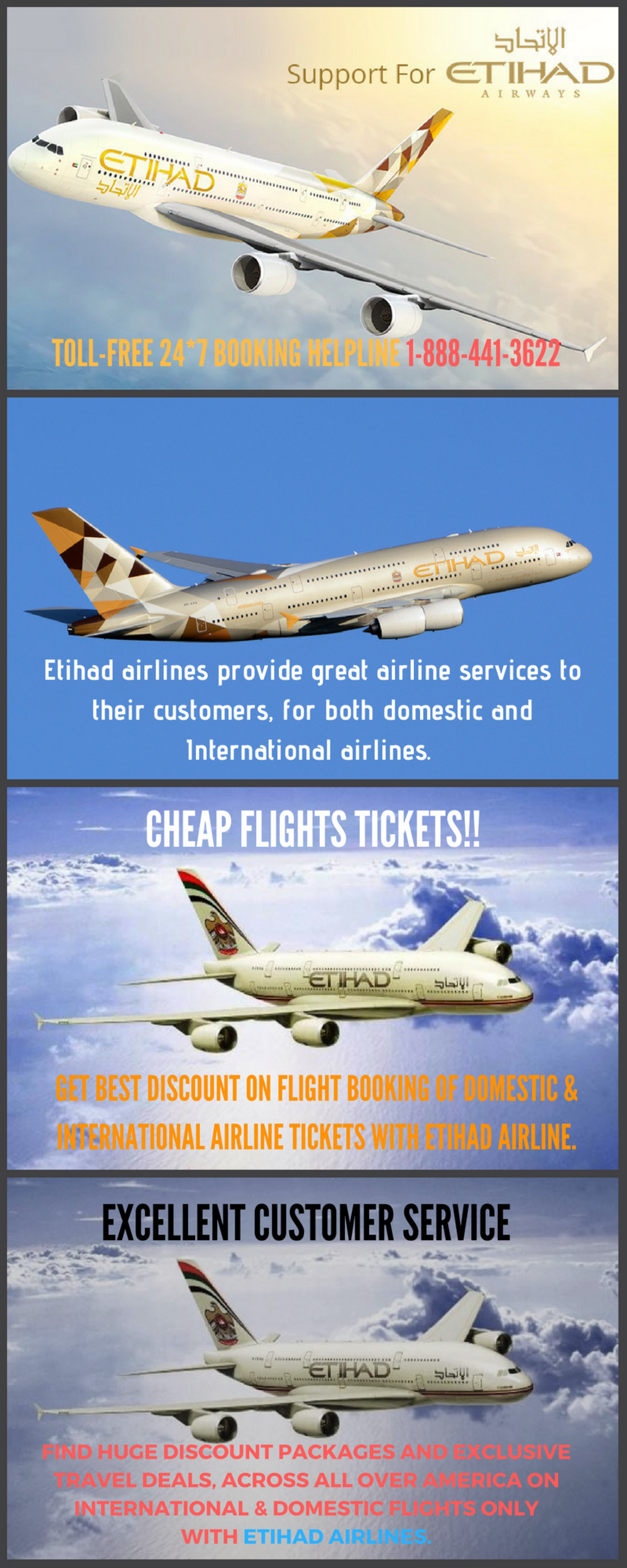 Etihad Airline Phone Number Infographic