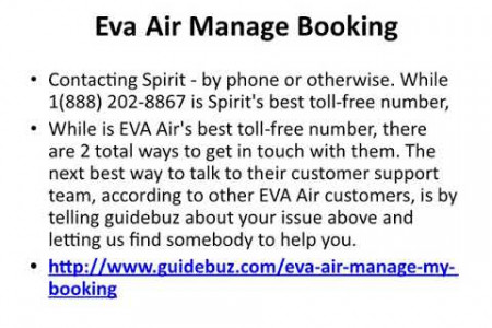 Eva Air Booking Number | Eva Air Reservations Number Infographic