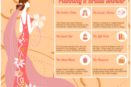 Event Management: Organizing a Successful Bridal Shower Infographic