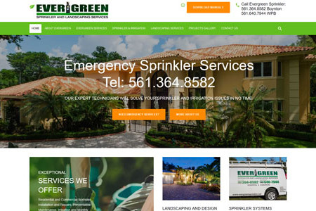 Evergreen Sprinkler and Landscaping Services Infographic
