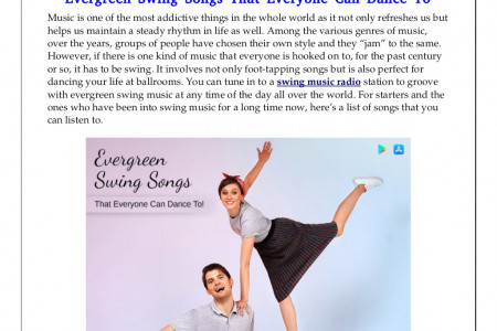 Evergreen Swing Songs That Everyone Can Dance To Infographic