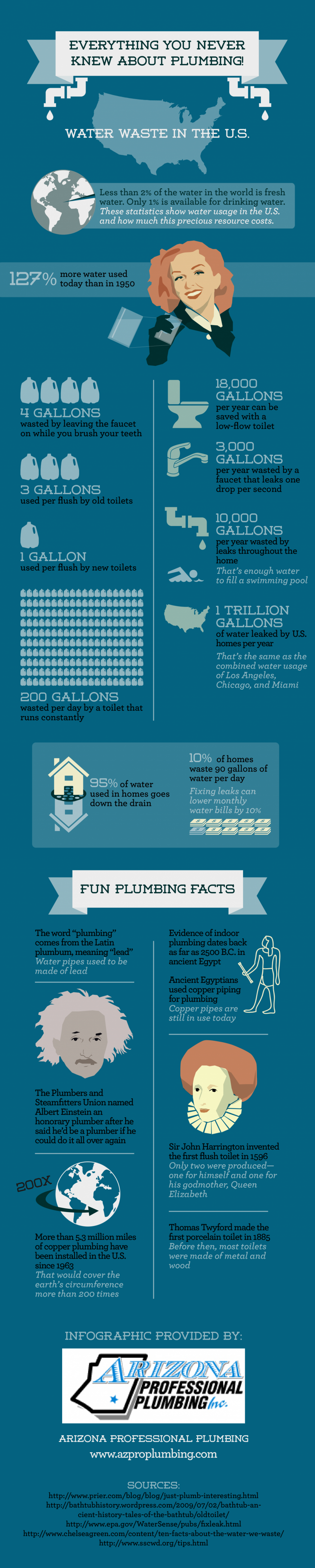 Everything You Never Knew About Plumbing Infographic