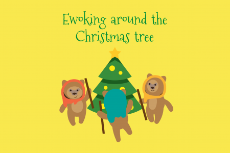 Ewoking Around The Christmas Tree- Star Wars Holiday Infographic Ecard Infographic
