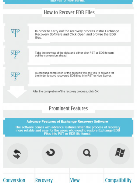 Exchange Export EDB to PST with Exchange Recovery Software Infographic