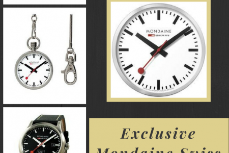 Exclusive Mondaine Swiss Watches and Clocks Infographic