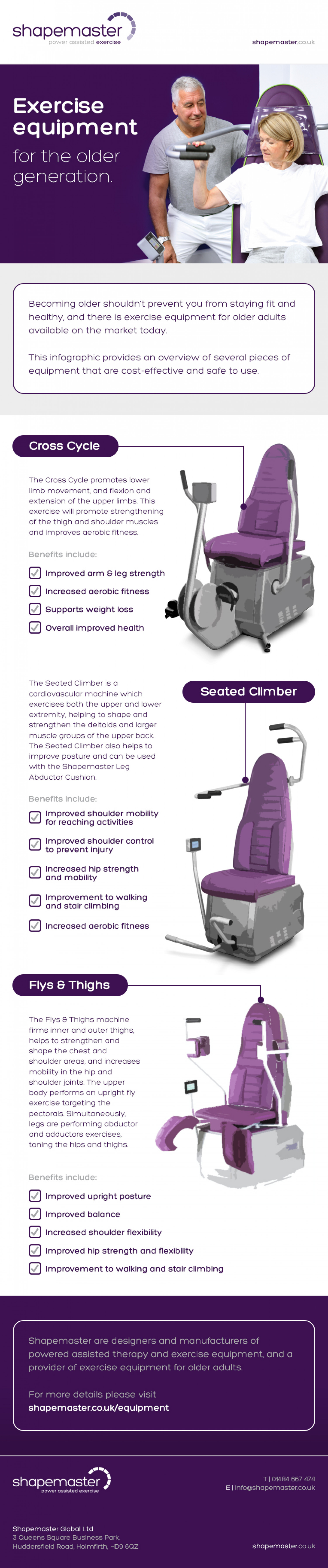 Exercise Equipment for the Older Generation Infographic