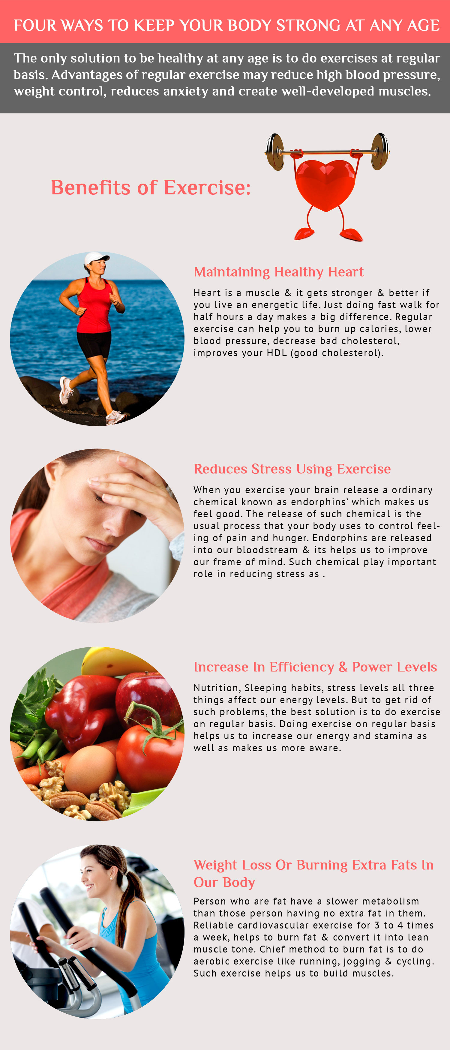 Exercise keeps us healthy & fit  Infographic