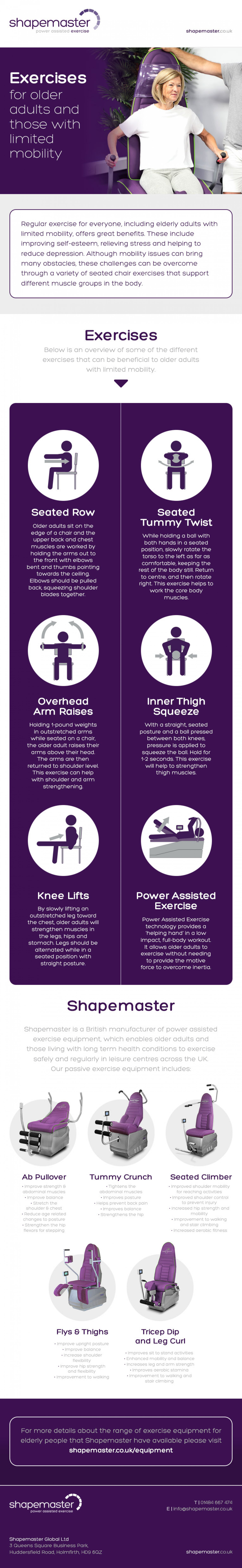 Exercises for Older Adults and Those with Limited Mobility Infographic