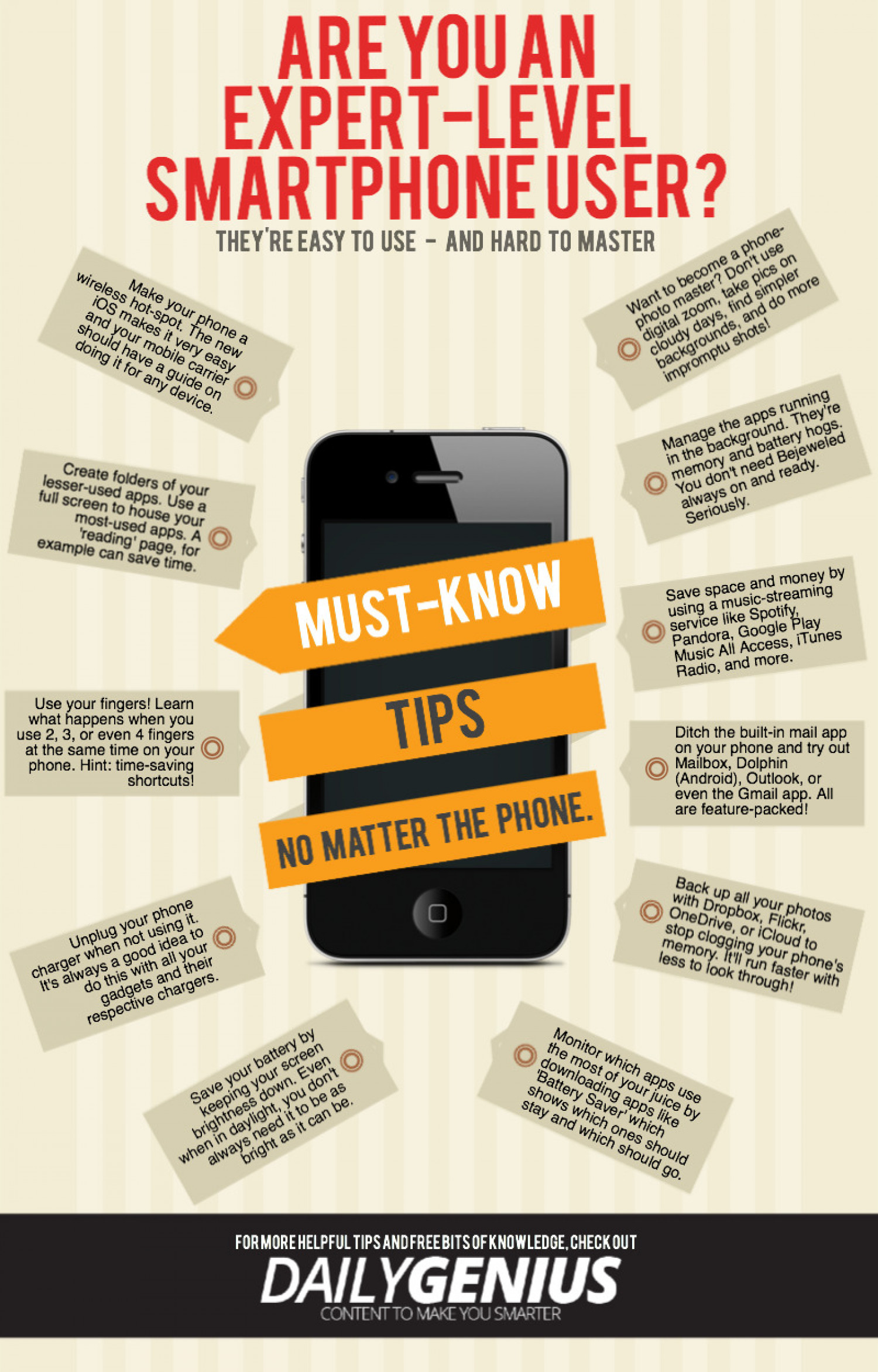Expert-Level Tips For All Smartphone Users Infographic