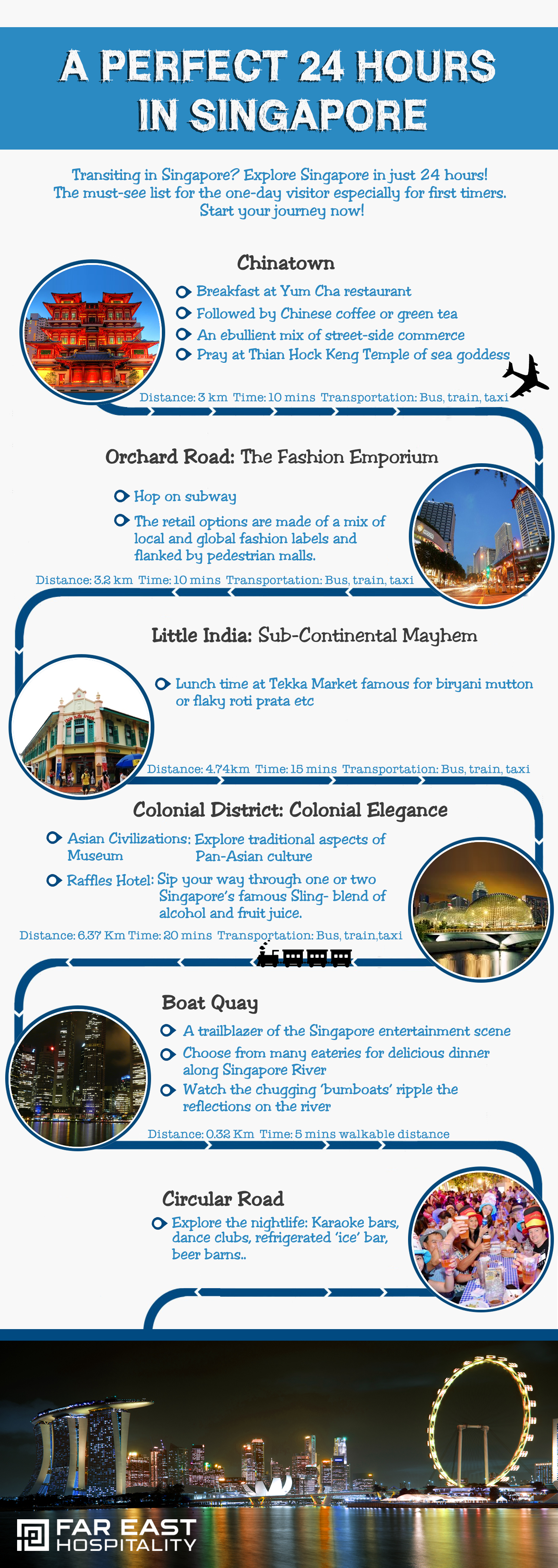 Explore Singapore In 24 Hours Infographic