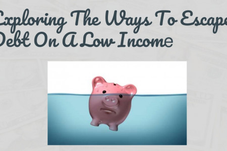 Exploring the ways to escape debt on a low income Infographic
