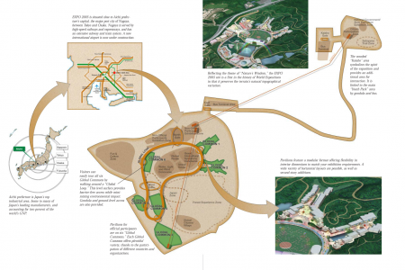 EXPO 2005 Aichi Japan world's fair site map Infographic