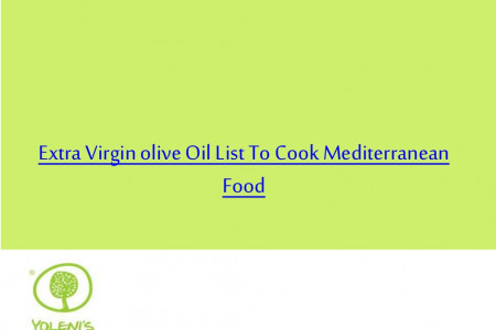 Extra Virgin olive Oil List To Cook Mediterranean Food Infographic
