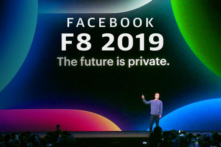 F8 developer conference keynote of Facebook Make 5 Largest Announcements Infographic
