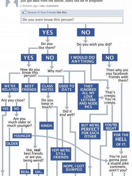 Facebook Flowchart Helps You Determine Your Response  Infographic