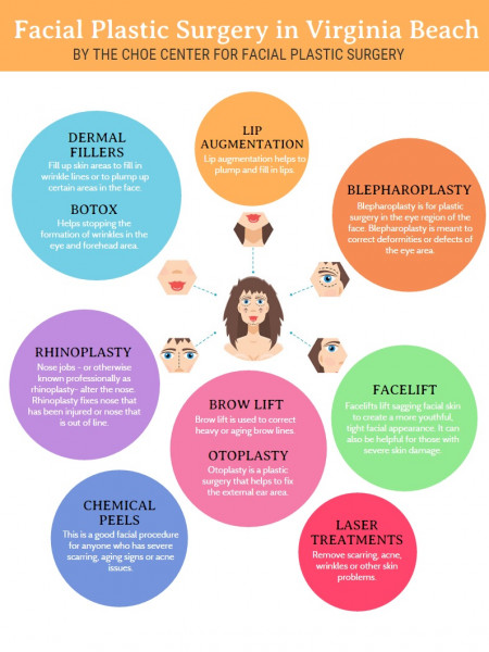 Facial Plastic Surgery Virginia Beach Infographic