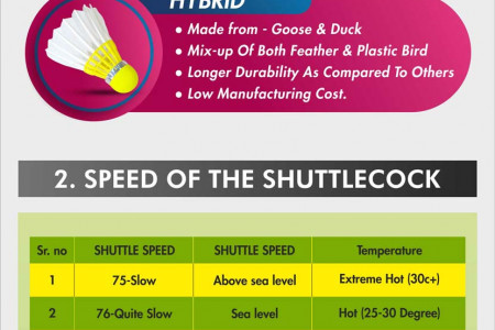 Factors to be kept in mind while purchasing badminton shuttlecock! Infographic