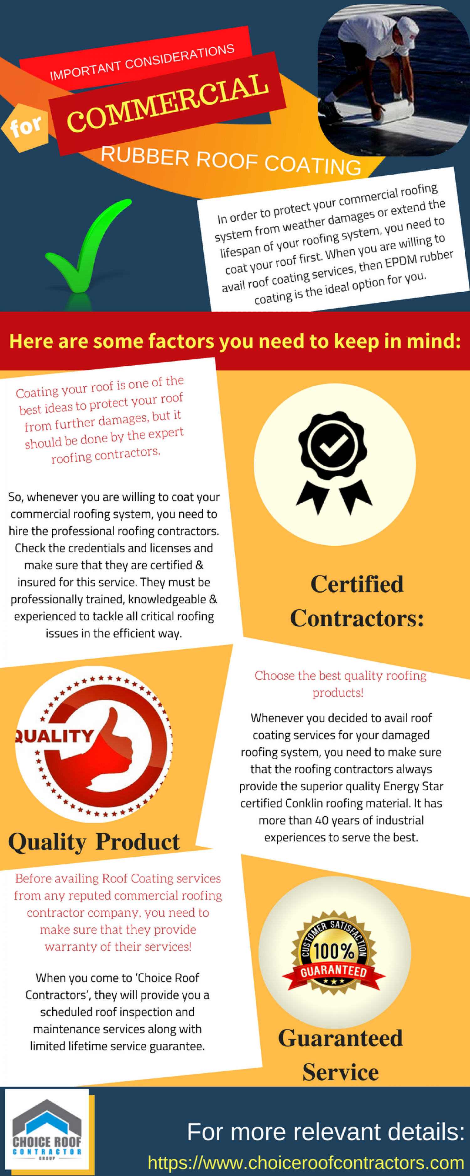 Factors to Consider Before Availing Rubber Roof Coating Infographic