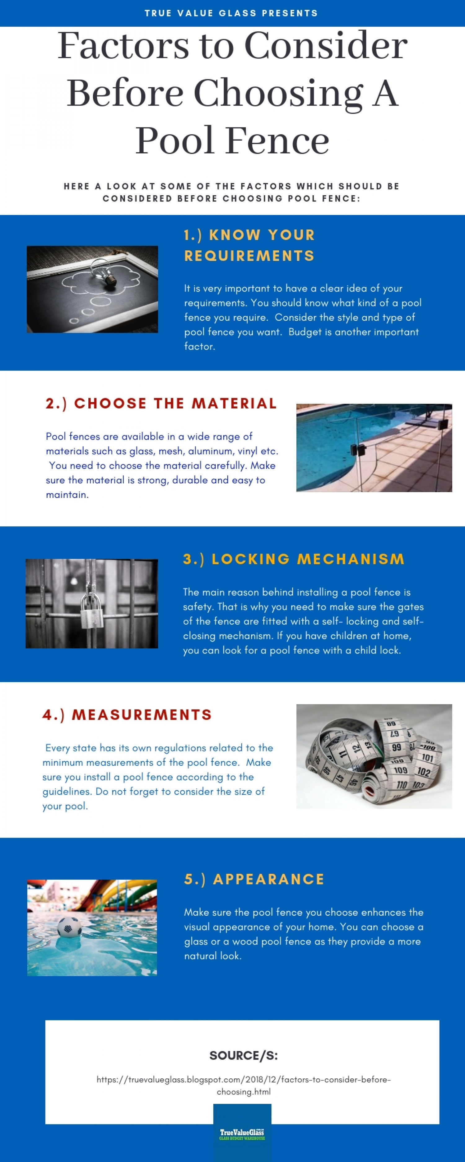 Factors to Consider Before Choosing A Pool Fence Infographic