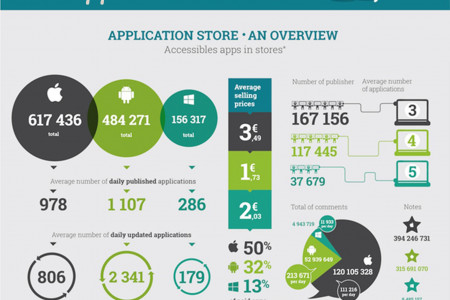 Facts About All Mobile Application Stores Infographic