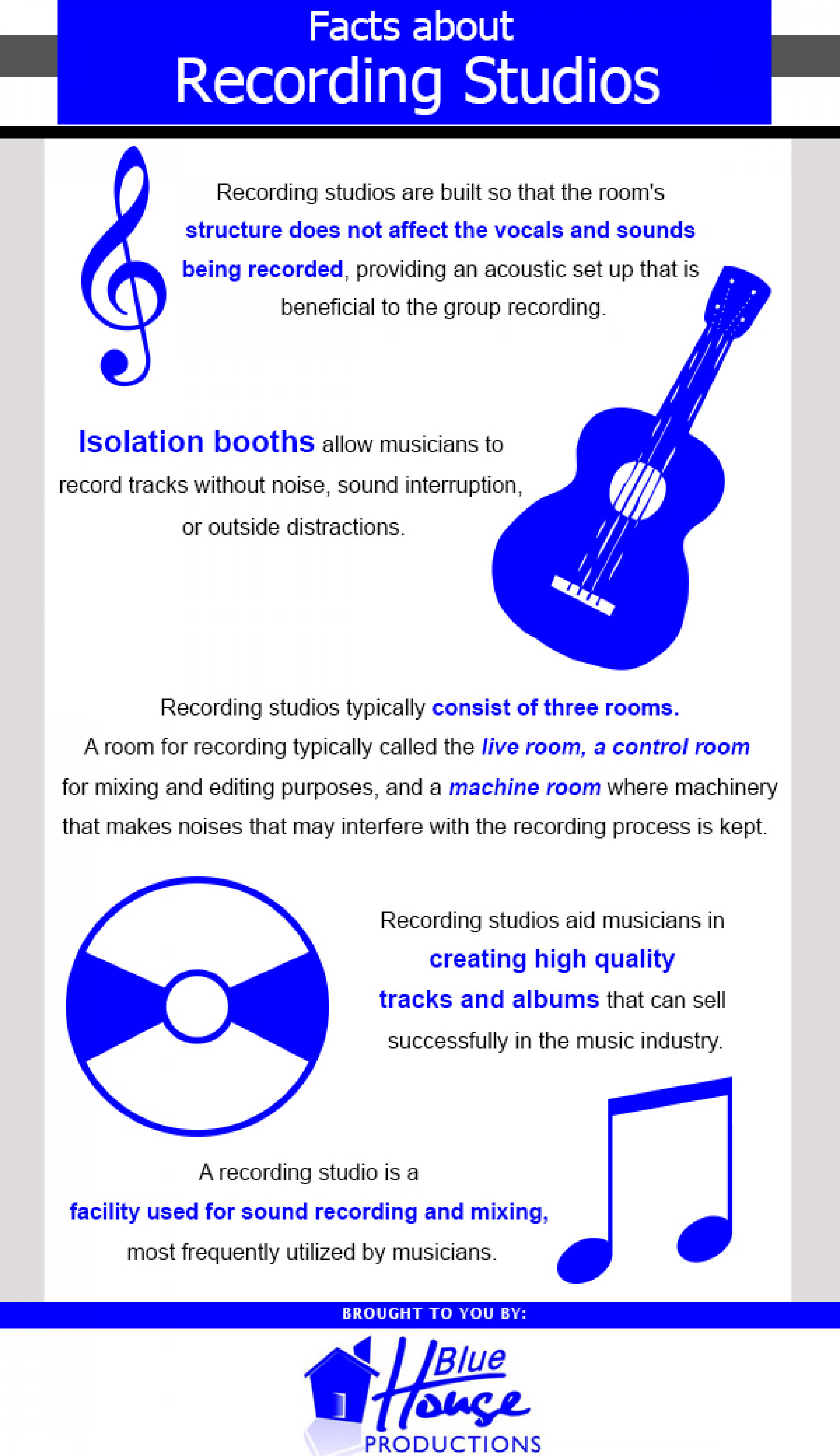 Facts About Recording Studios Infographic