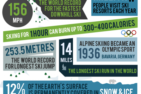 Facts About Skiing! Infographic