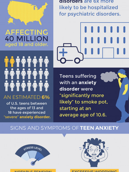 Facts About Teen Anxiety Infographic