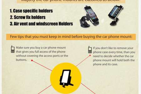 Facts to Remember Before Buying  the Right Phone Car Mount Infographic