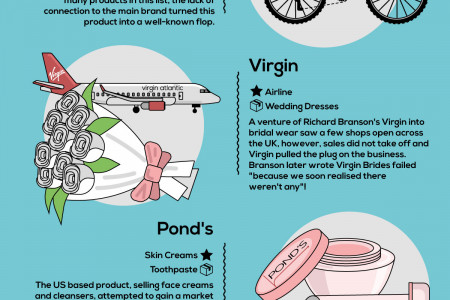 Famous Brands That Released Weird Products Infographic