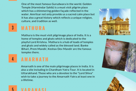 Famous Pilgrim Sites in India - Jingo Holidays Infographic