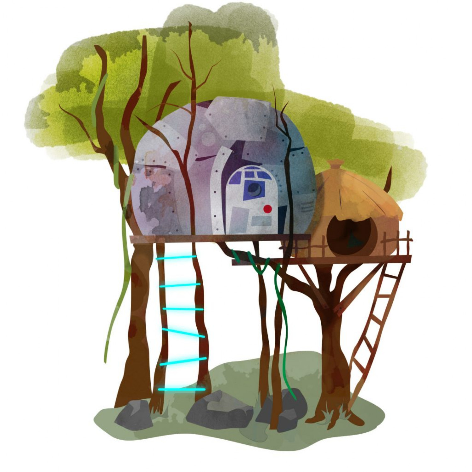 Famous Treehouses: Star Wars Infographic