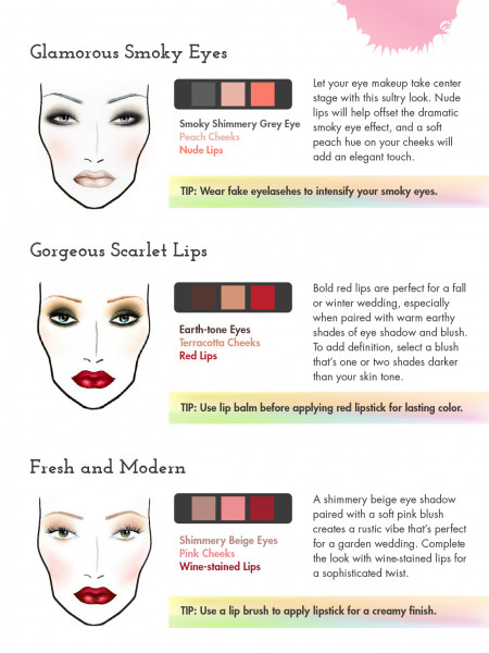 DiY Bridal Makeup Ideas Infographic