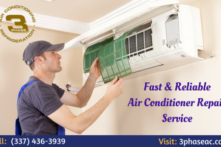 Fast & Reliable Air Conditioner Repair Service Infographic