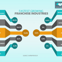 Fastest Growing Franchise Industries | Visual.ly