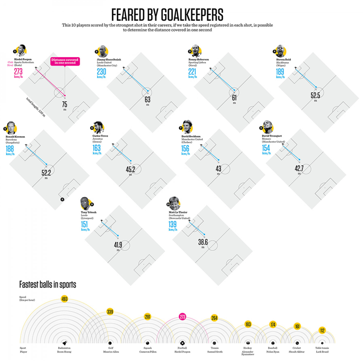feared by goalkeepers Infographic