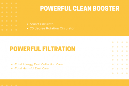 Features of LG's Air Purifier  Infographic