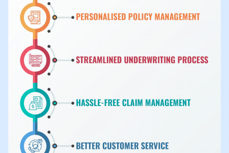 Features of Life Insurance Software Infographic