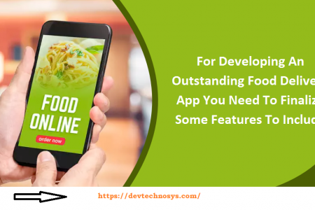 Features To Include while Developing An Outstanding Food Delivery App Infographic