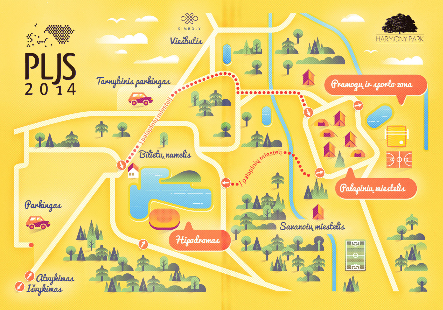 Festival map Infographic