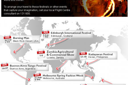 Festivals Around the World in August 2013 Infographic