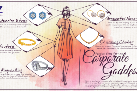 Festive bling for the Corporate Goddess Infographic