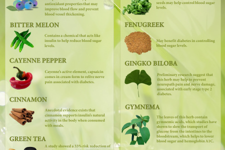 Few Herbs With Their Nutritional Benefits Infographic