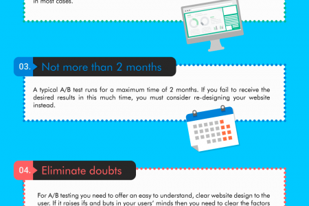 FEW STEPS TO SUCCESSFUL A/B TESTING Infographic