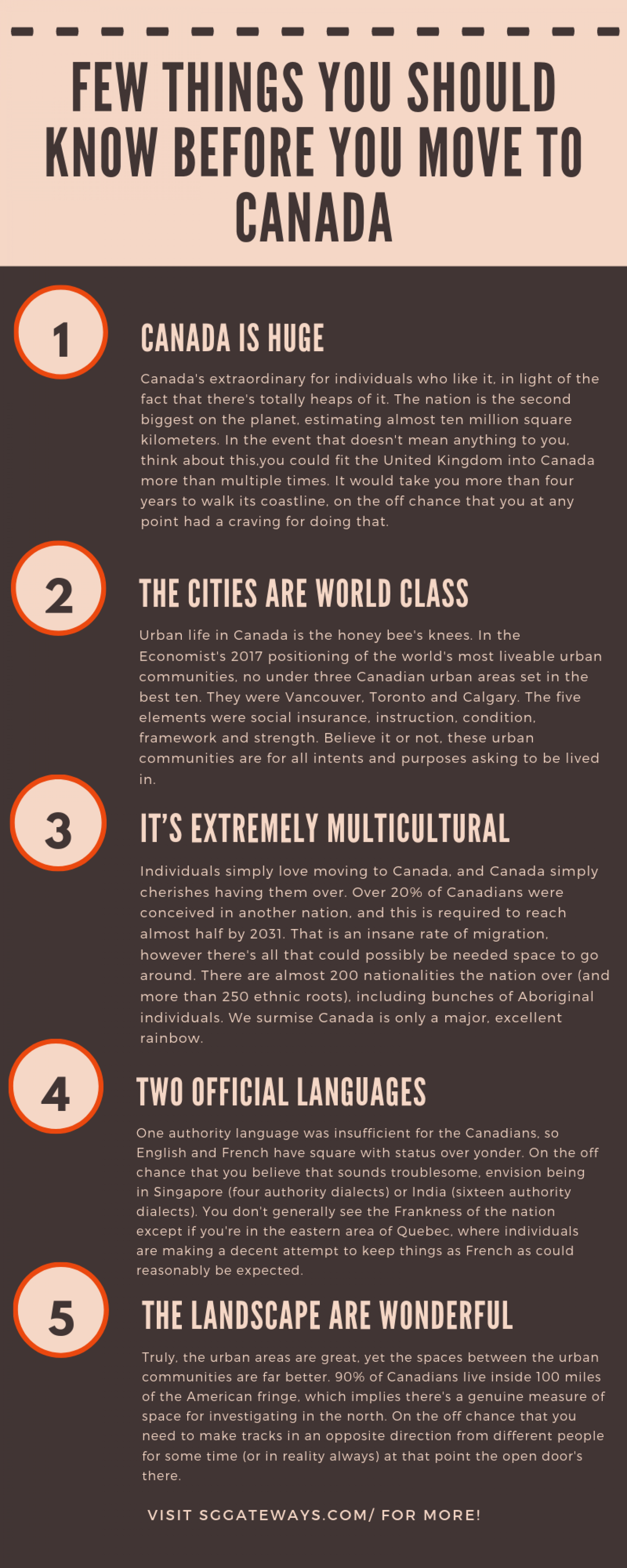 Few Things You Should Know Before You Move to Canada Infographic