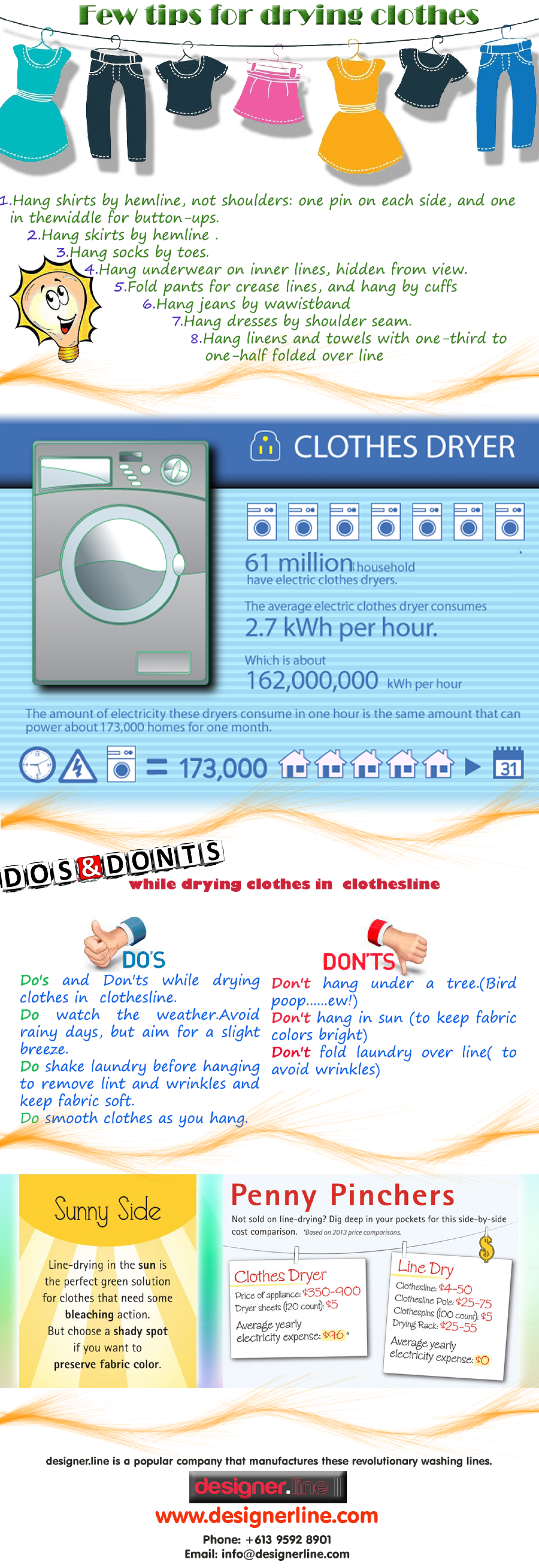 Few Tips for Drying Clothes Infographic