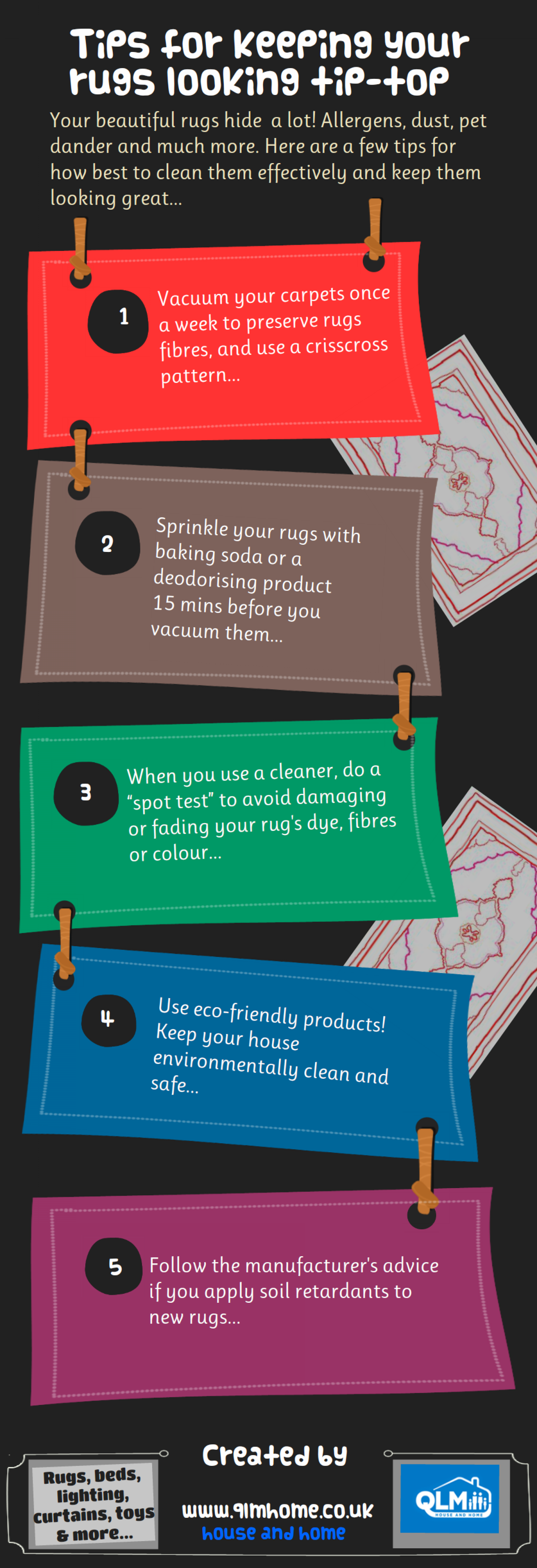 Few Tips to clean your rugs Infographic