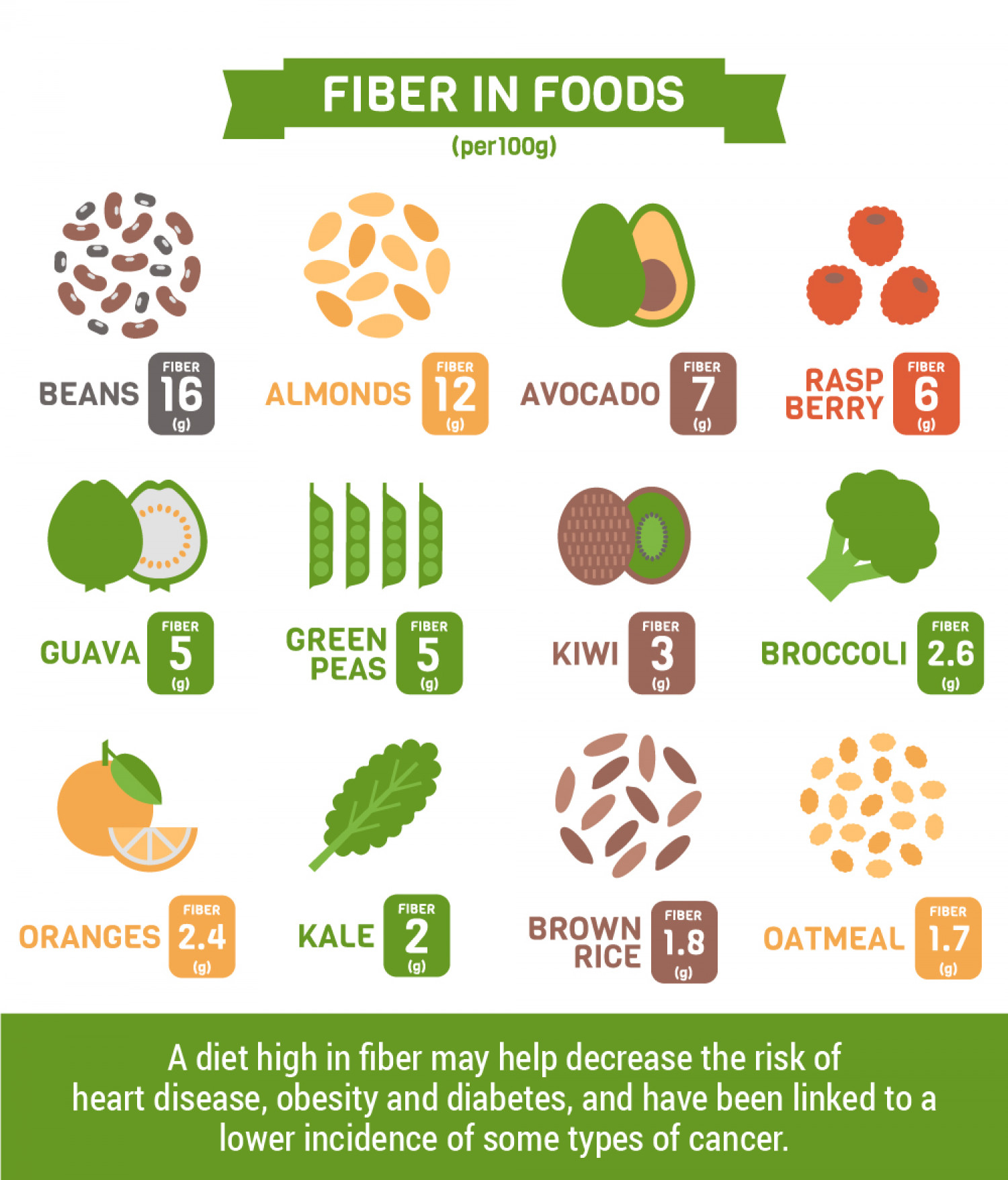 Fiber in Foods Infographic