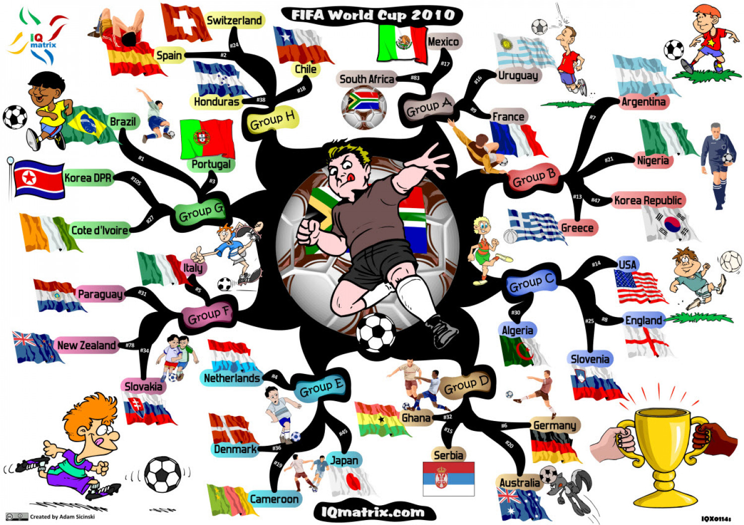 FIFA World Cup South Africa Visually - World map wallpaper south africa