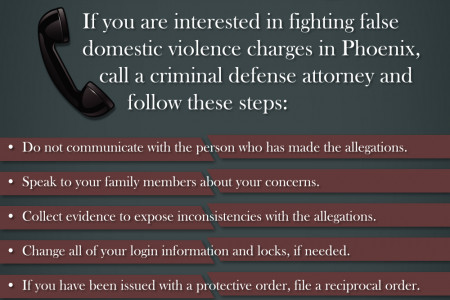 Fighting False Domestic Violence Charges Infographic