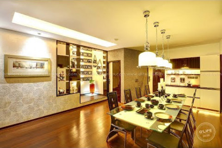 Film Director Priyadarshan's Villa Interiors at Chennai by D'LIFE Infographic